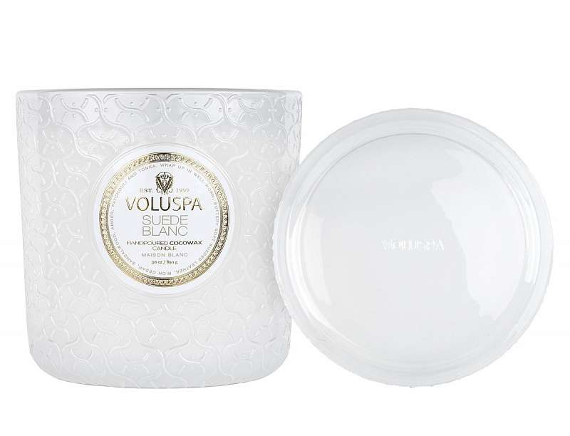 Suède Blanc - Luxe Candle